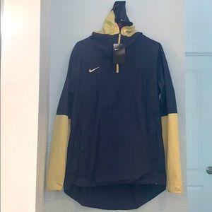 Men's Nike half-Zip Pullover Hoodie Top Navy Yello